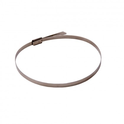 100PCS  4.6 x 300mm Strong Stainless Steel Marine Grade Metal Cable Ties Zip Tie Wraps Exhaust