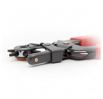 ANTON 6 Size Kit Revolving Heavy Duty Leather Belt Hole Punch Puncher Cut Eyelet Plier Red