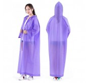 Women / Men Waterproof Jacket Clear PVC Raincoat