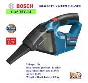 Bosch GAS 12 V-LI Professional Cordless Vacuum Cleaner - SOLO