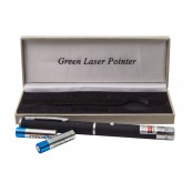 Adjustable Focus Lazer  Green Laser Pointer Pen  - Black
