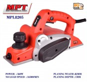 MPT MPL 8205 560W 82mm Electric Wood Planer Door Plane Hand Held Woodworking Power Surface