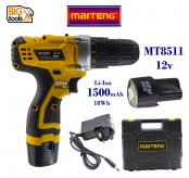 Maiteng 2 Speed MT8511 12V Lithium Battery Cordless Drill with Two Batteries