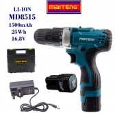 MAITENG MT8515 16.8V Electric Battery Drill Screwdriver Cordless Speed 2 Battery Rechargeable