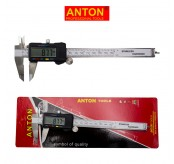 ANTON 150mm 6 Inch LCD Vernier Electronic Digital Stainless Steel Gauge Caliper Micrometer Measuring Tool