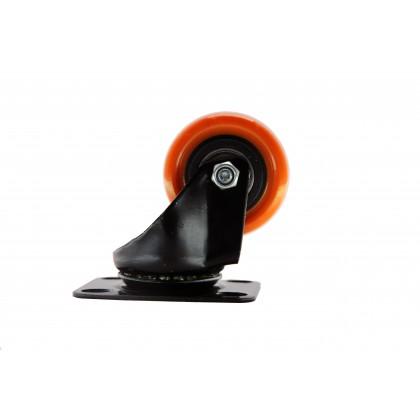 4pcs Bigtool 50mm 120kg PVC Orange Brake Swivel Castor Wheels Trolley Caster Furniture Casters