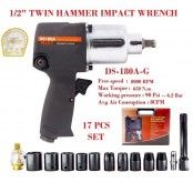 "DS-180A-G 1/2"" AIR IMPACT WRENCH 17 PCS"